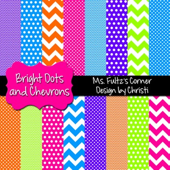 Digital Papers: Bright Dots and Chevrons