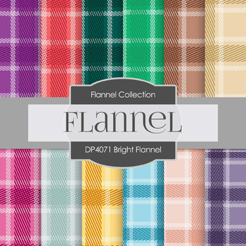 Digital Papers - Bright Flannel (DP4071)