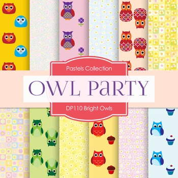 Digital Papers - Bright Owls (DP110)