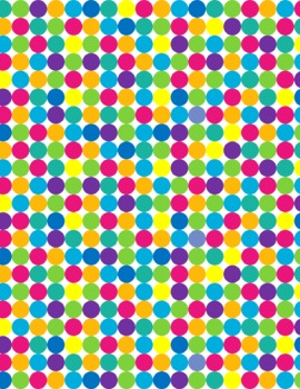 Digital Papers Bright Polka Dots and Stripes
