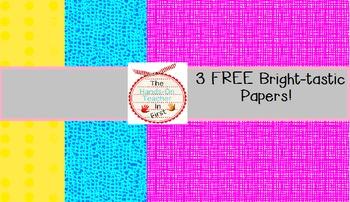 Digital Papers: Bright-Tastic Freebie set! {3 free papers}
