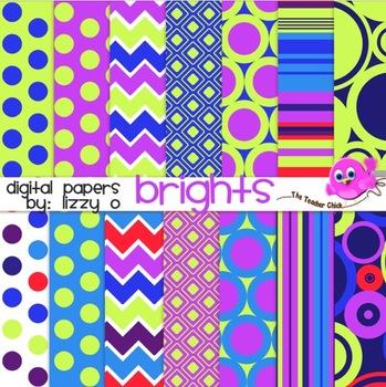 Digital Papers - Brights