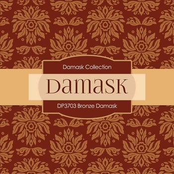 Digital Papers - Bronze Damask (DP3703)