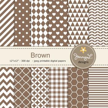 Digital Papers : Brown