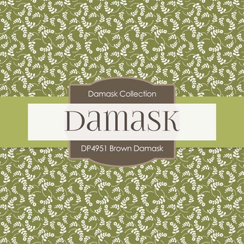 Digital Papers - Brown Damask (DP4951)