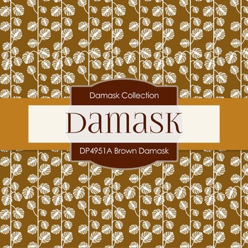Digital Papers - Brown Damask (DP4951A)