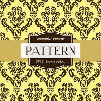 Digital Papers - Brown Yellow (DP931)