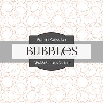 Digital Papers - Bubbles Outline (DP6183)