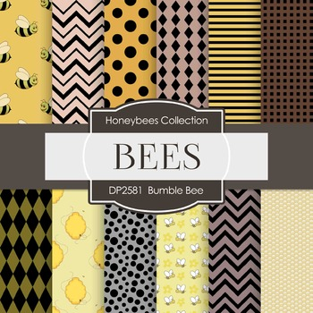 Digital Papers -  Bumble Bee (DP2581)