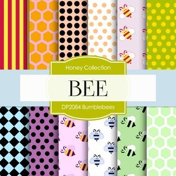 Digital Papers - Bumblebees (DP2084)