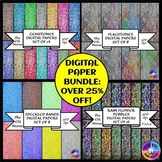 Digital Papers Bundle with 46 Papers in 4 Sets