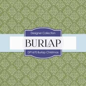 Digital Papers -  Burlap Christmas (DP1670)