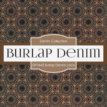 Digital Papers - Burlap Denim Lace (DP2445)