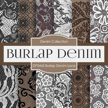 Digital Papers - Burlap Denim Lace (DP2445)
