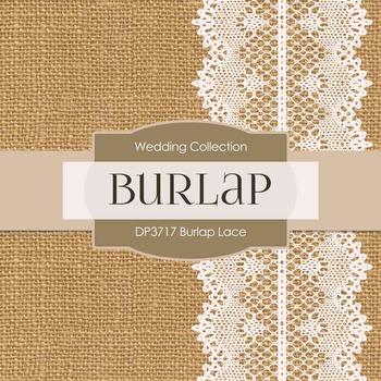 Digital Papers - Burlap Lace (DP3717)