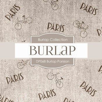 Digital Papers - Burlap Parisian (DP068)