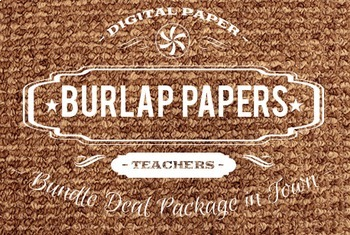 Digital Papers - Burlap Patterns Bundle Deal