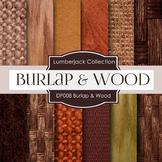 Digital Papers - Burlap and Wood (DP008)