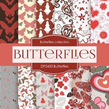 Digital Papers - Butterflies (DP2433)