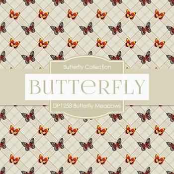 Digital Papers - Butterfly Meadows (DP1258)