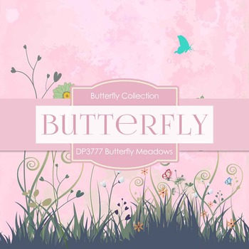 Digital Papers - Butterfly Meadows (DP3777)