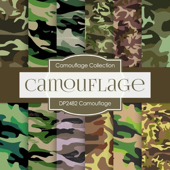 Digital Papers -  Camouflage (DP2482)