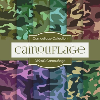 Digital Papers -  Camouflage (DP2483)
