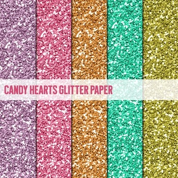 Digital Papers ~Candy Hearts~ Glitter Paper {Ink n Little Things}
