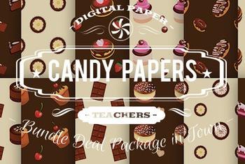 Digital Papers - Candy Patterns Bundle Deal