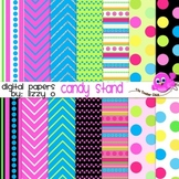 Digital Papers - Candy Stand