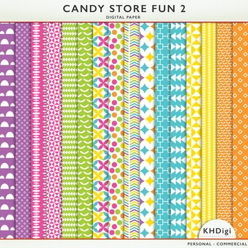Digital Papers - Candy Store Fun 2