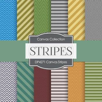 Digital Papers - Canvas Stripes (DP4271)