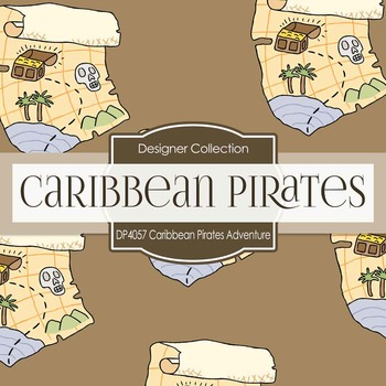 Digital Papers - Caribbean Pirates Adventure (DP4057)