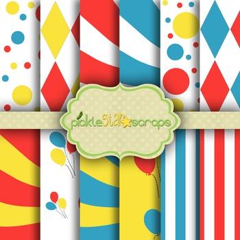Digital Papers Carnival Paper Circus Paper 1