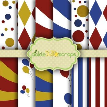 Digital Papers Carnival Paper Circus Paper 3