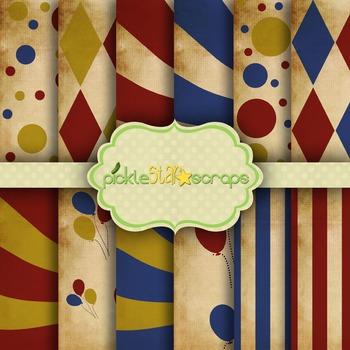 Digital Papers Carnival Paper Circus Paper 4