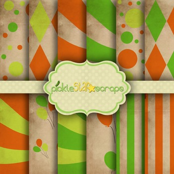 Digital Papers Carnival Paper Circus Paper 8