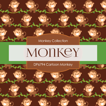 Digital Papers - Cartoon Monkey (DP6794)