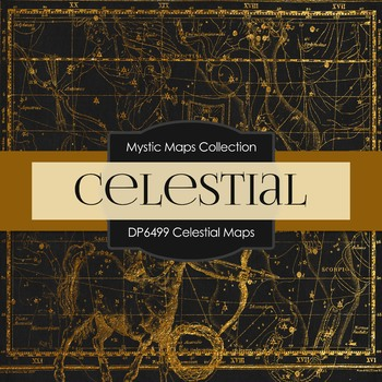 Digital Papers - Celestial Maps (DP6499)