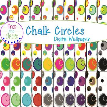 Digital Papers - Chalk Circles 2
