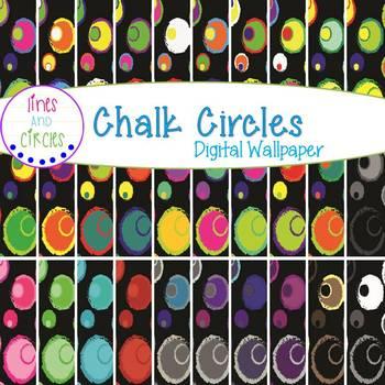 Digital Papers - Chalk Circles