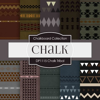 Digital Papers - Chalk Tribal (DP1115)