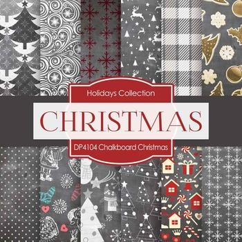 Digital Papers - Chalkboard Christmas (DP4104)