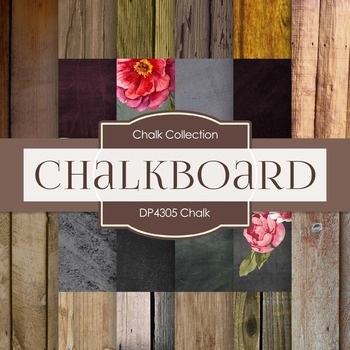 Digital Papers - Chalkboard (DP4305)
