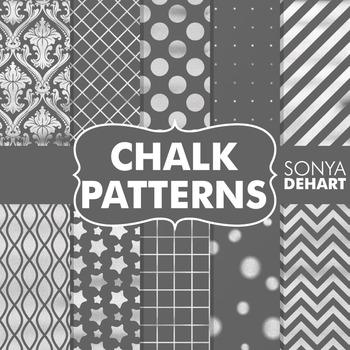 Digital Papers - Chalkboard Patterns