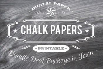 Digital Papers - Chalkboard Patterns Bundle Deal