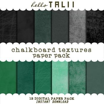 Digital Papers: Chalkboard Textures