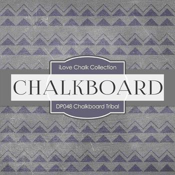 Digital Papers - Chalkboard Tribal (DP048)