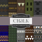 Digital Papers -  Chalkboard Tribal (DP1566)
