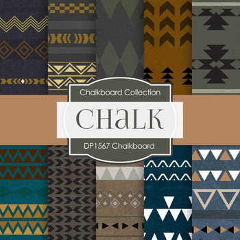 Digital Papers -  Chalkboard Tribal (DP1567)